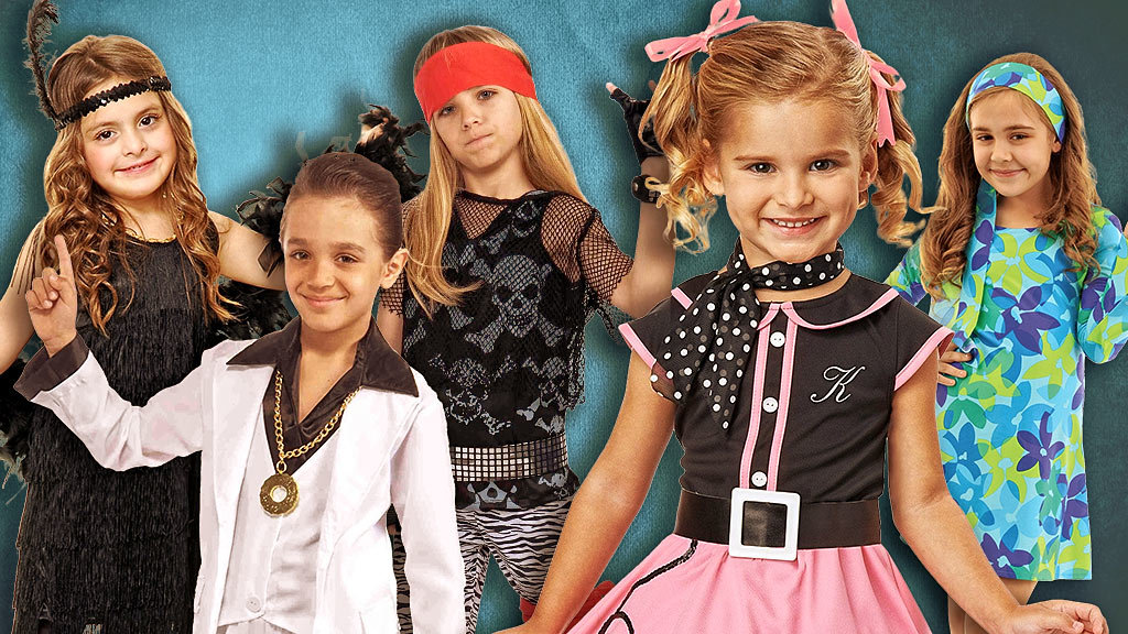 Kids Decades Costumes