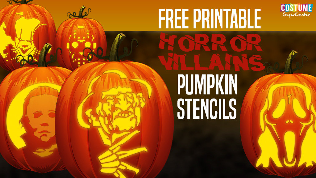 Horror Villain Pumpkin Carving Stencils