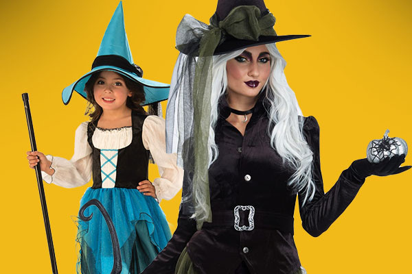 Mommy and me witch costumes