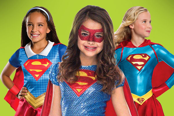 Girls supergirl costumes