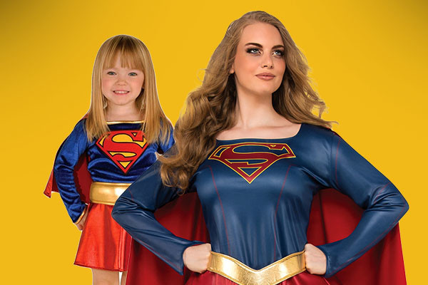 Mommy and me supergirl costumes