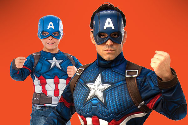 Daddy and me Captain America