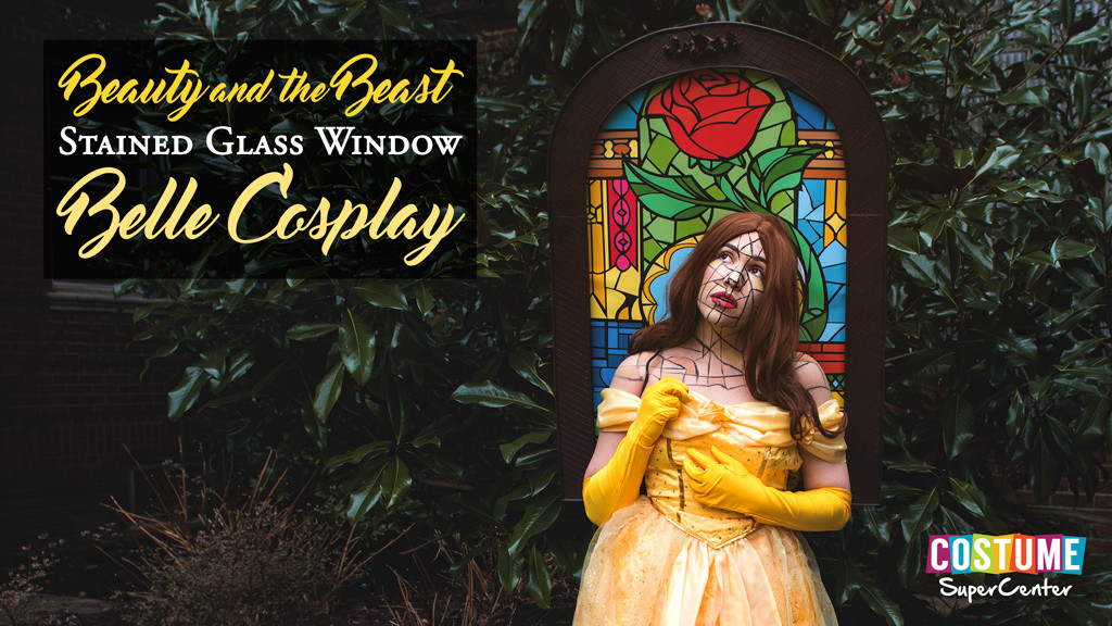 Beauty and the Beast Stained Glass Cosplay Tutorial