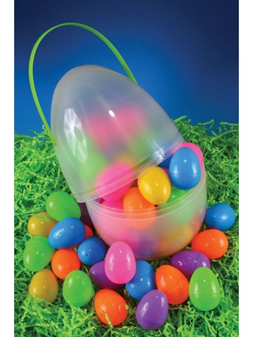 "14 "" Clear Egg Jumbo Container"