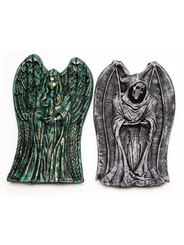 Winged Angel Light-Up 21-inch Tombstone