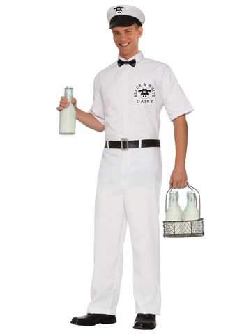 50s Milkman Adult Costume
