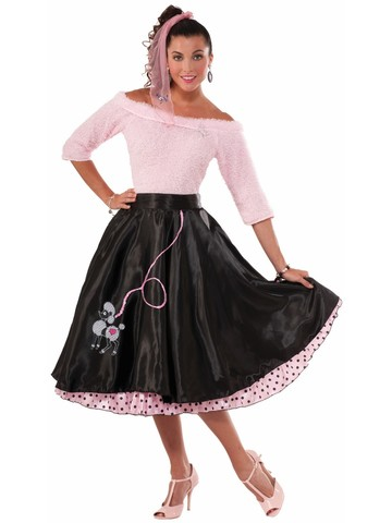 Black Poodle 50's Skirt