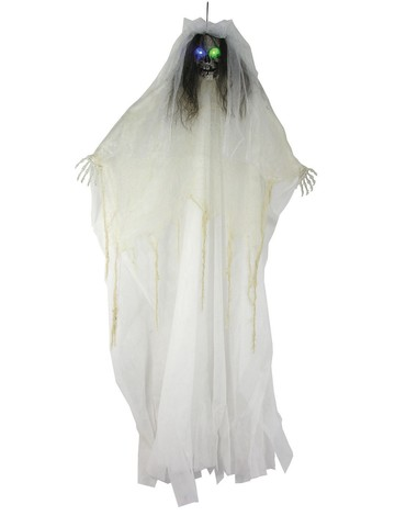"57"" Bride Skull Light Up Prop"