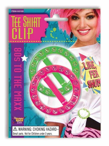 Pink and Green 80s Tee Shirt Clips