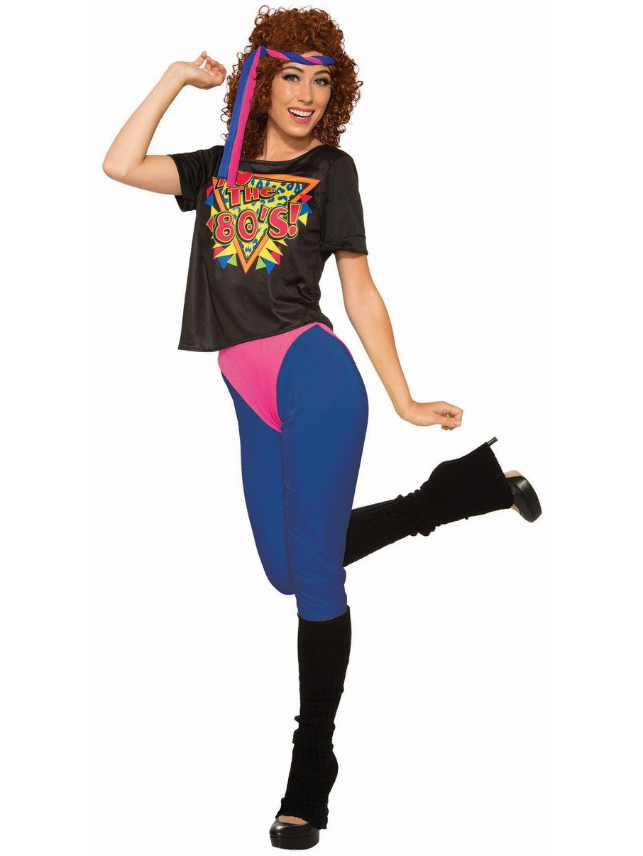 View larger image of Women's 80's Workout Diva Costume