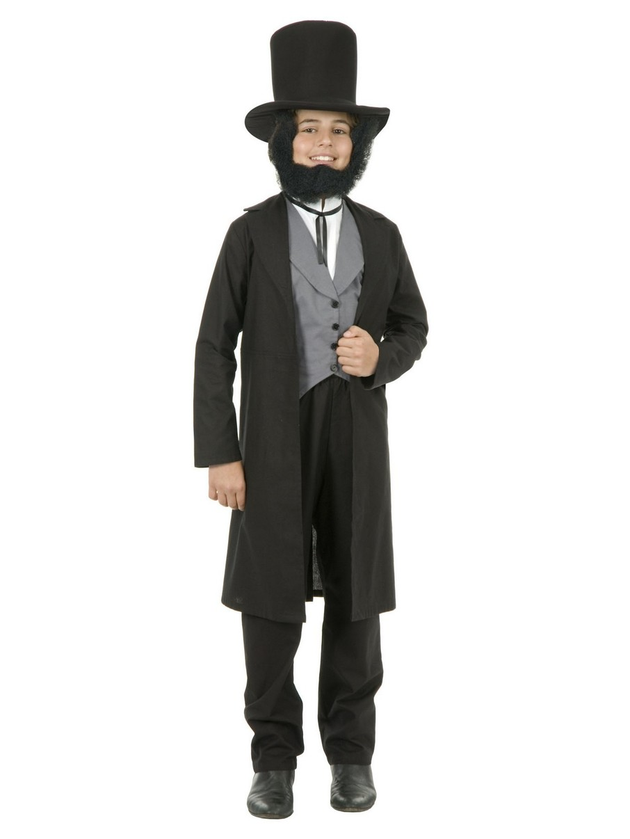 View larger image of Childrens Abe Lincoln Costume with Hat