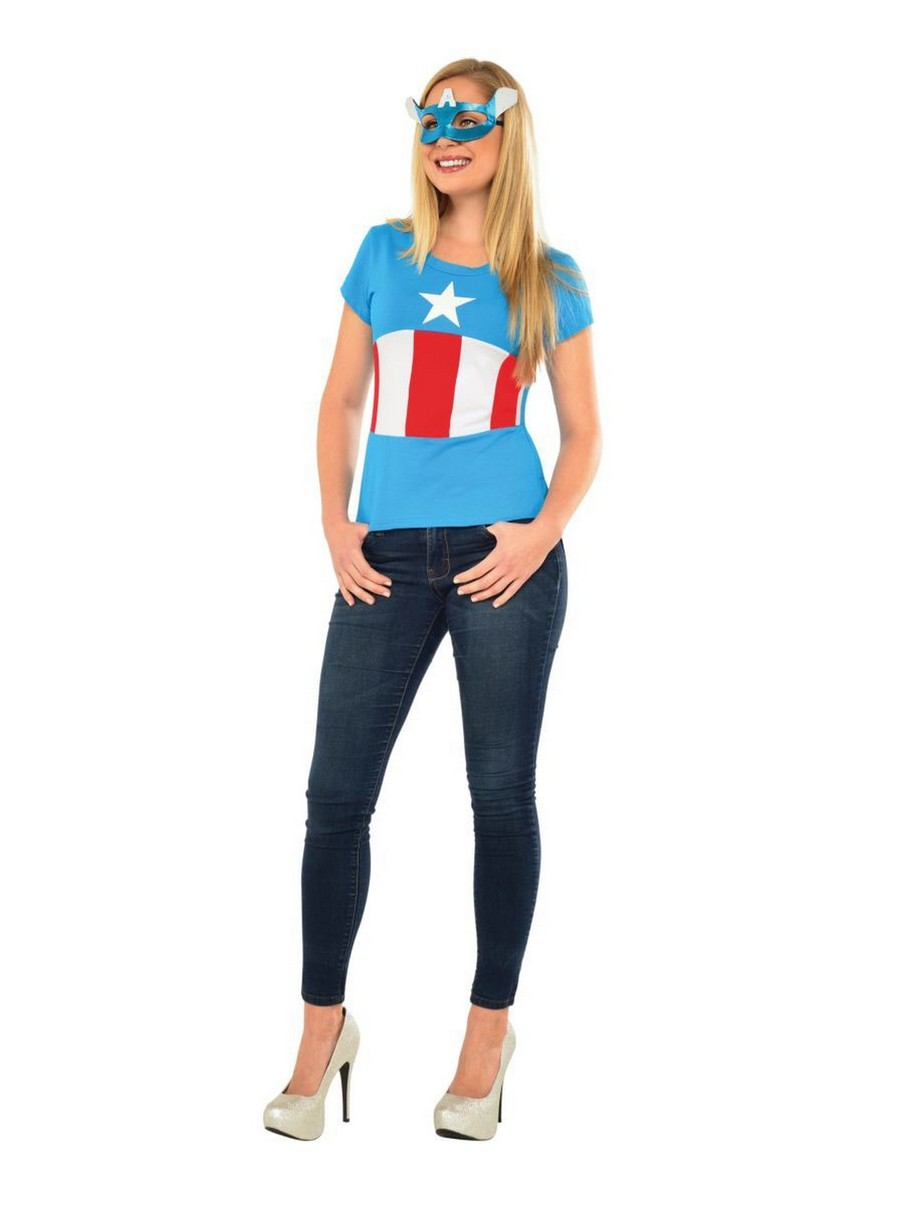 View larger image of American Dream Mask and Costume Top - Adult