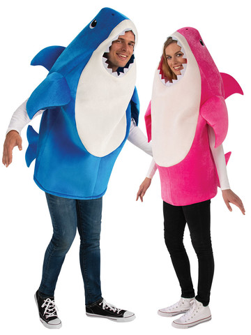 Adult Baby Shark Mommy and Daddy Costume Kit