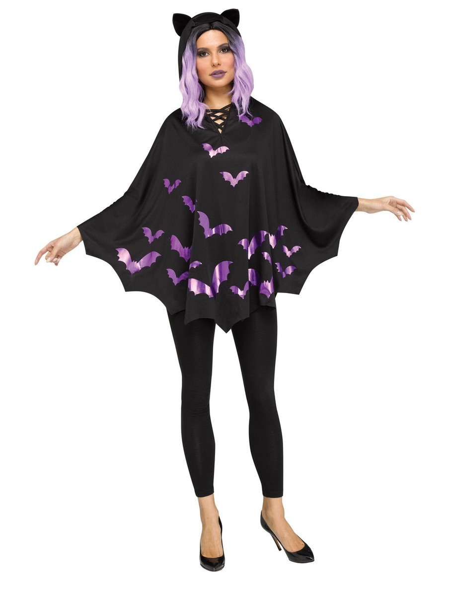 View larger image of Bat Poncho Costume for Adults