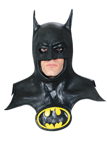 Batman Mask with Cowl and Logo Adult