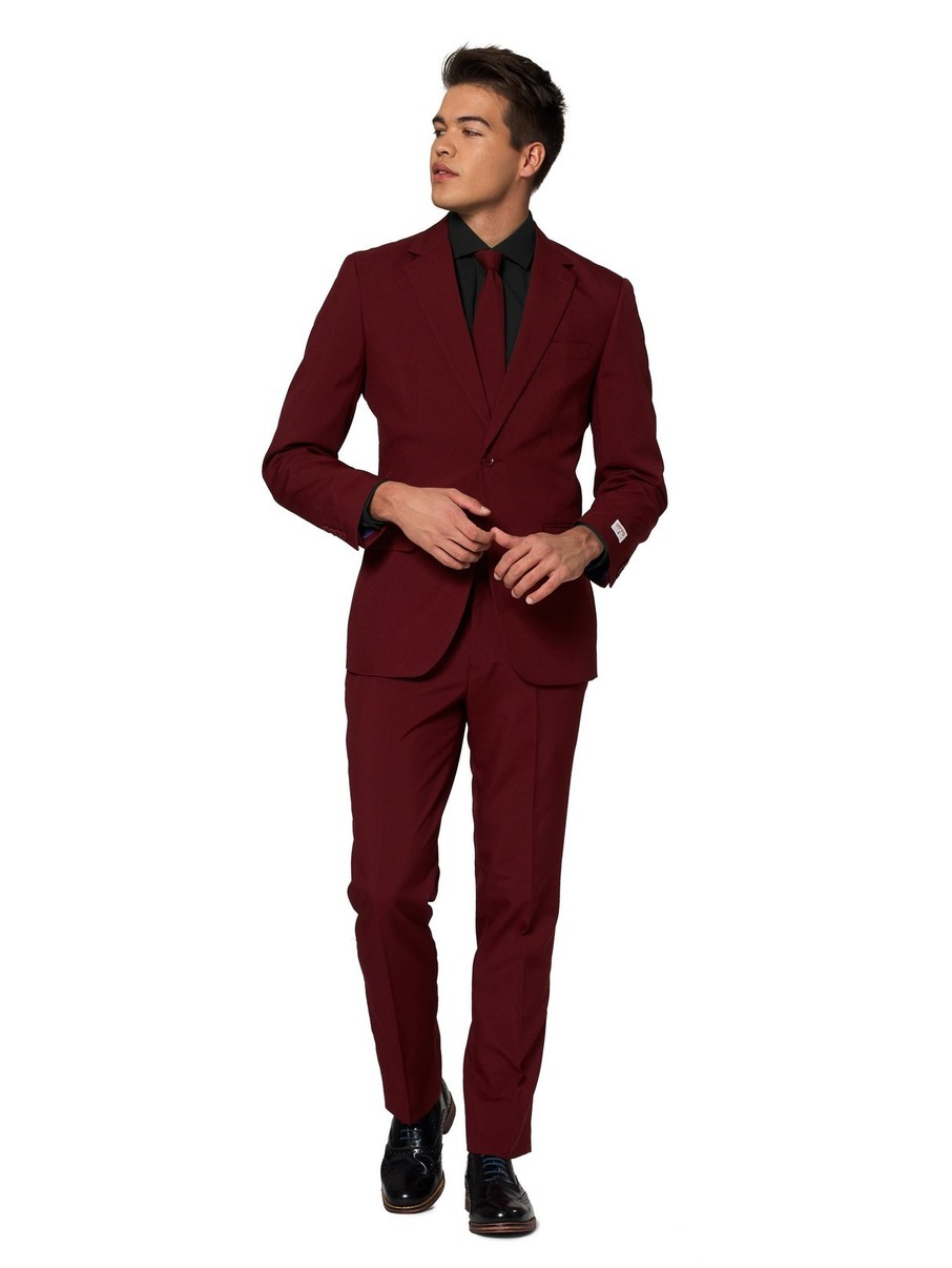 View larger image of Opposuits Adult Blazing Burgundy Solid Suit
