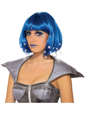 Adult Blue Light Up Wig Accessory