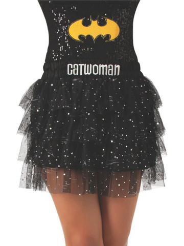 Adult Catwoman Skirt with Sequins
