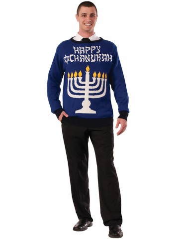 Adult Festive Chanukah Sweater