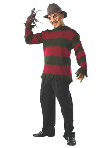 Freddy Deluxe Adult Sweater with Mask