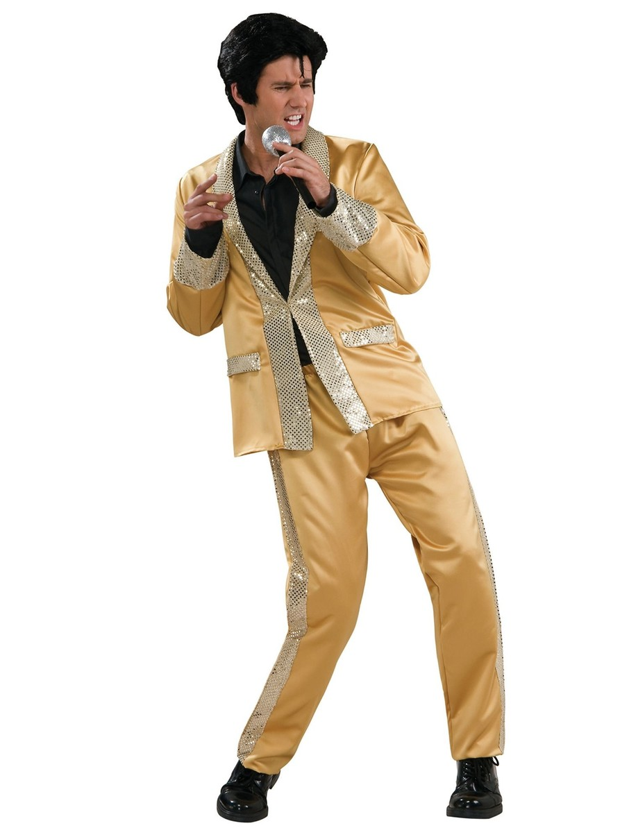 View larger image of Adult Deluxe Gold Satin Elvis Costume