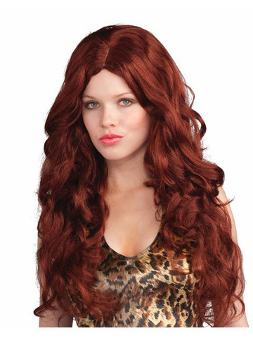 Adult Deluxe Red Sultry Wig