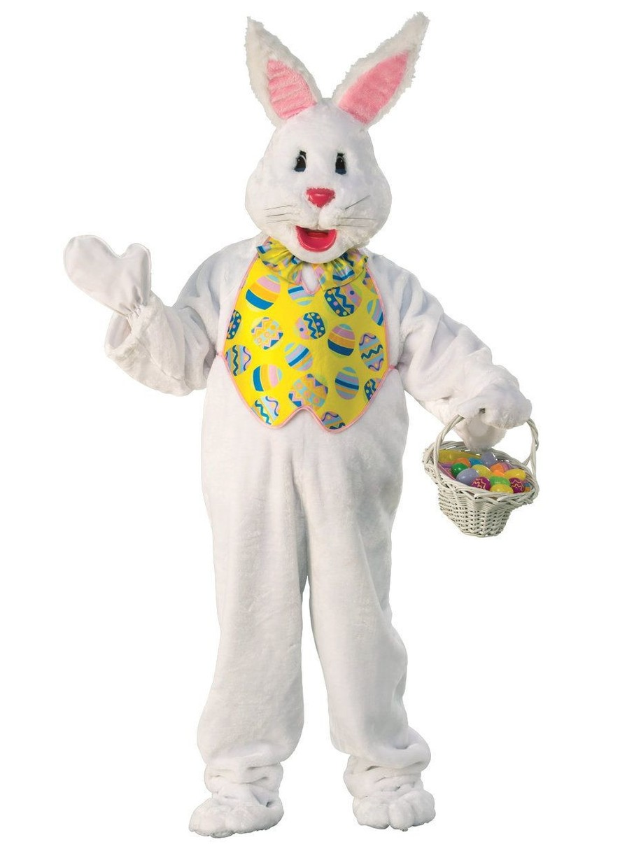 View larger image of Adult Dlx Bunny Suit with Yellow Vest and Mascot Head - Standard