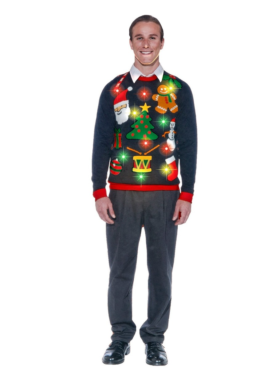 View larger image of Light Up Everything Christmas Sweater for Adult