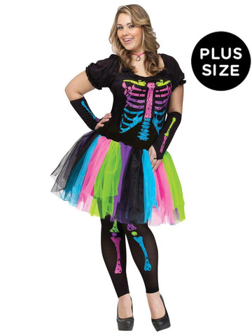 Adult Funky Punk Bones Plus Size Costume