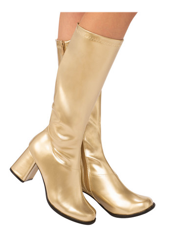 Gold Go-go Boots for Adults