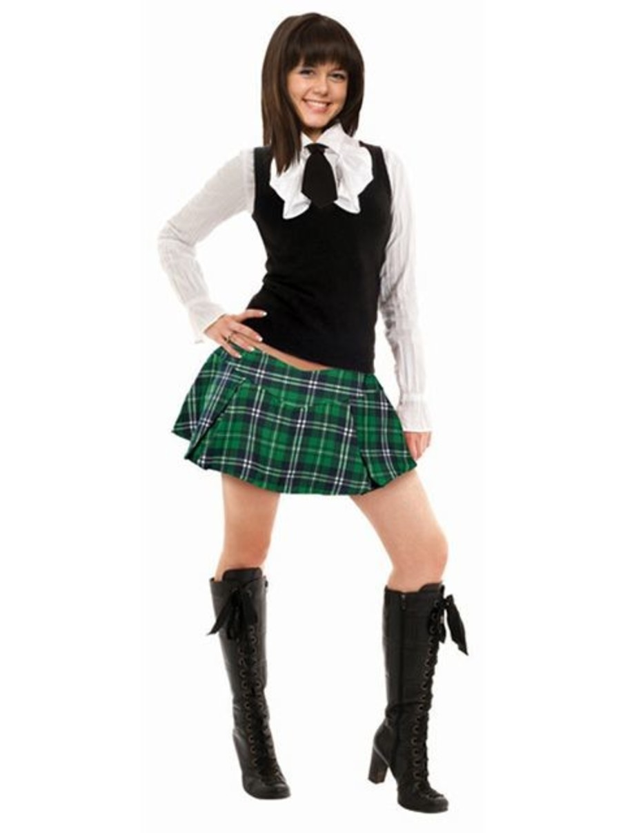 View larger image of Adult Green Plaid Mini Skirt