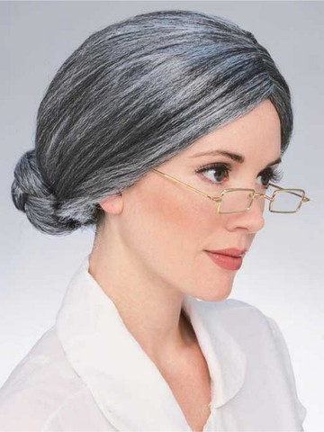 Old Lady Gray Wig for Adult