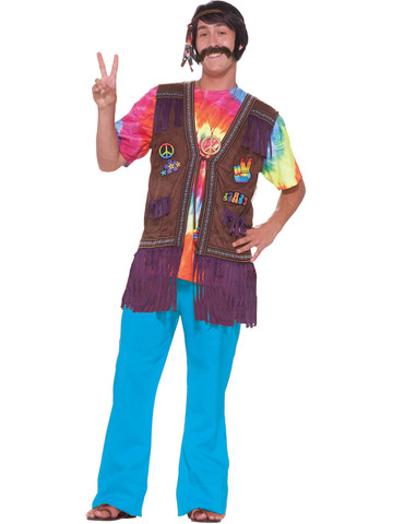 Hippie Vest for Adults - X-Large