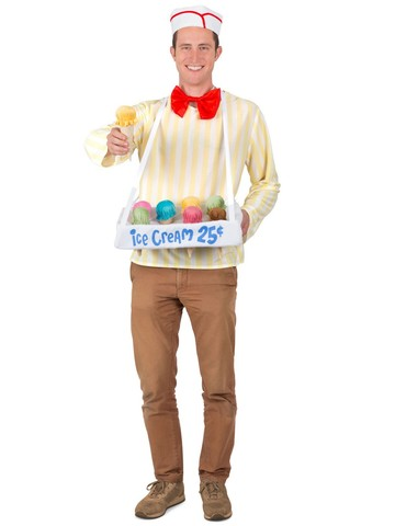 Ice Cream Cone Salesman Costume for Adults