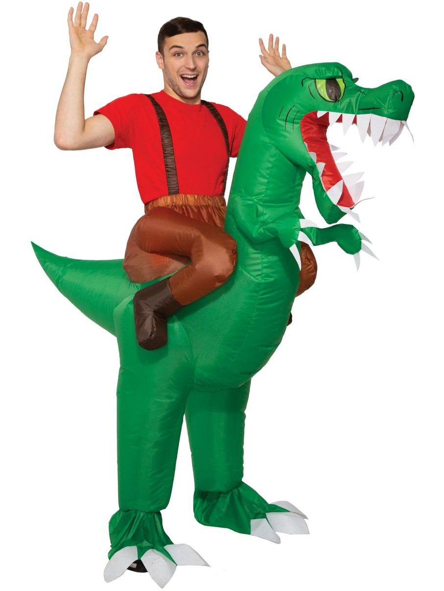 View larger image of Ride-A-Dinosaur Inflatable Costume for Adult