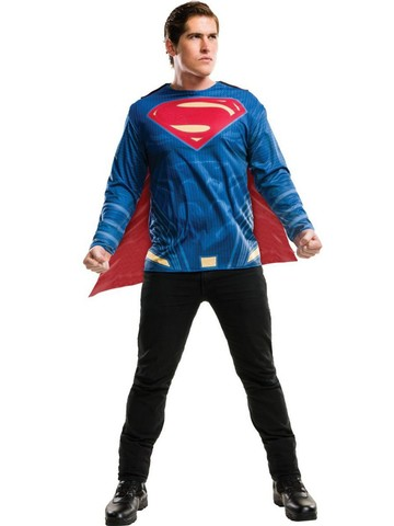 Superman Costume Top for Adult - Justice League
