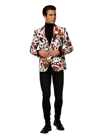 Adult King of Clubs Cards Blazer
