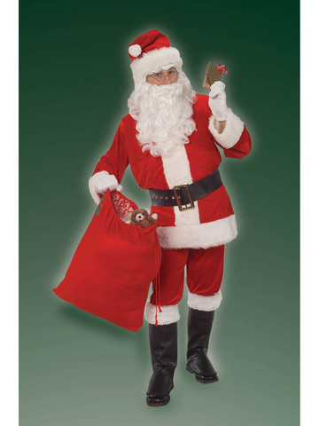 Santa Suit Velour Adult Mens Costume