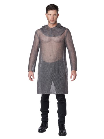 Metallic Tunic Chainmail Adult Costume