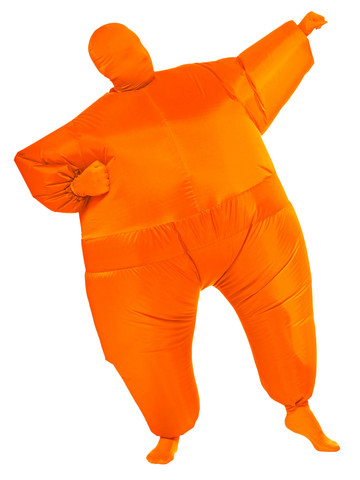 Inflatable - Orange - Adult Costume