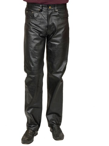 Adult Pleather Jeans - Black