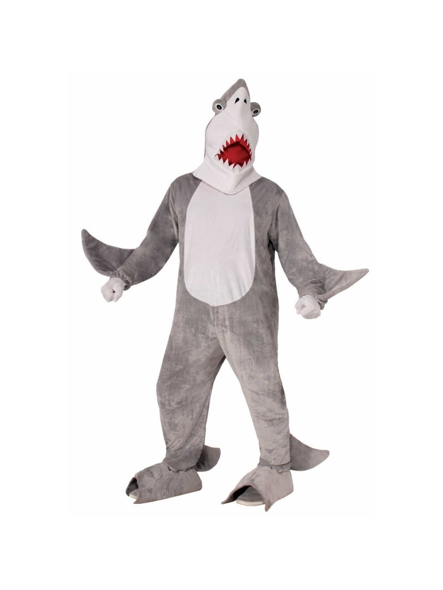 View larger image of Adult Classic Plush Chomper The Shark Costume