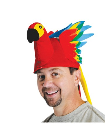 Plush Parrot Hat for Adult