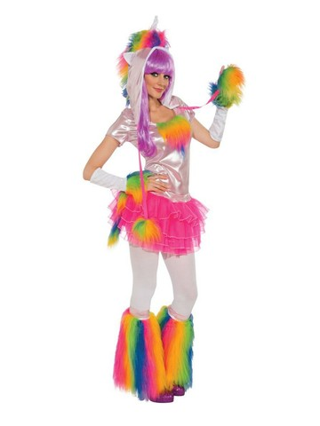 Rainbow Unicorn Adult Costume
