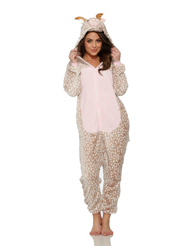 Reindeer Jumpsuit Costume for Adult