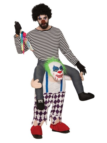 Ride-A-Evil Clown Adult Costume