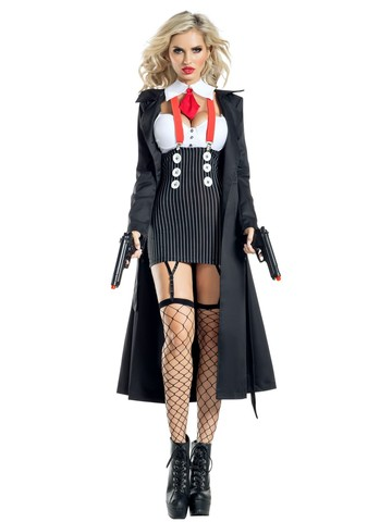 Gangster Sexy Womens Costume