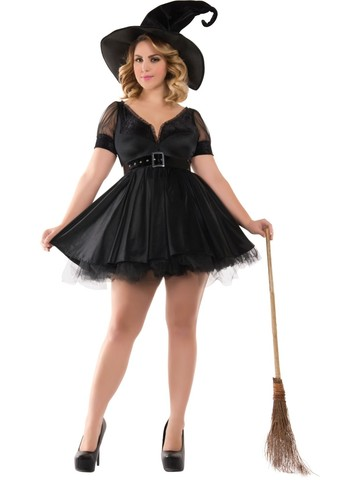 Sassy Bewitching Witch Womens Plus Costume