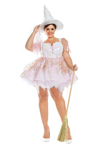 Sexy Magic White Witch Womens Plus Costume