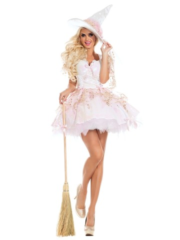 Sexy Magic White Witch Womens Costume